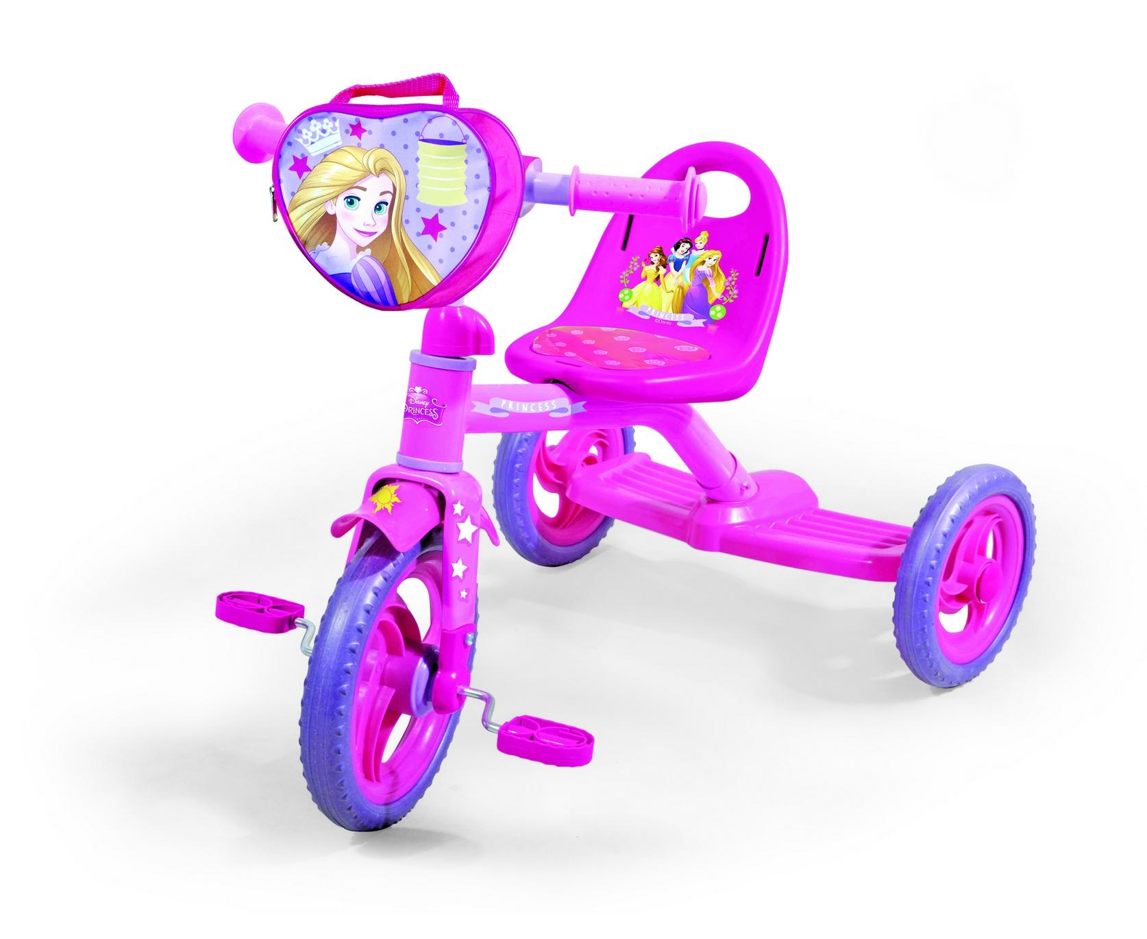 Велосипед 3-х колес 0205P Disney Princess (1шт),сумка, пластик.колеса