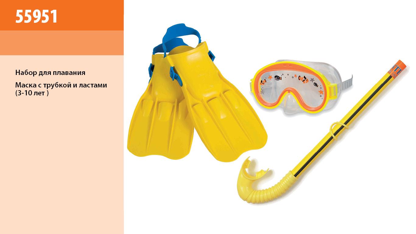 Набір для плавання INTEX арт.  55951   маска трубка ласти