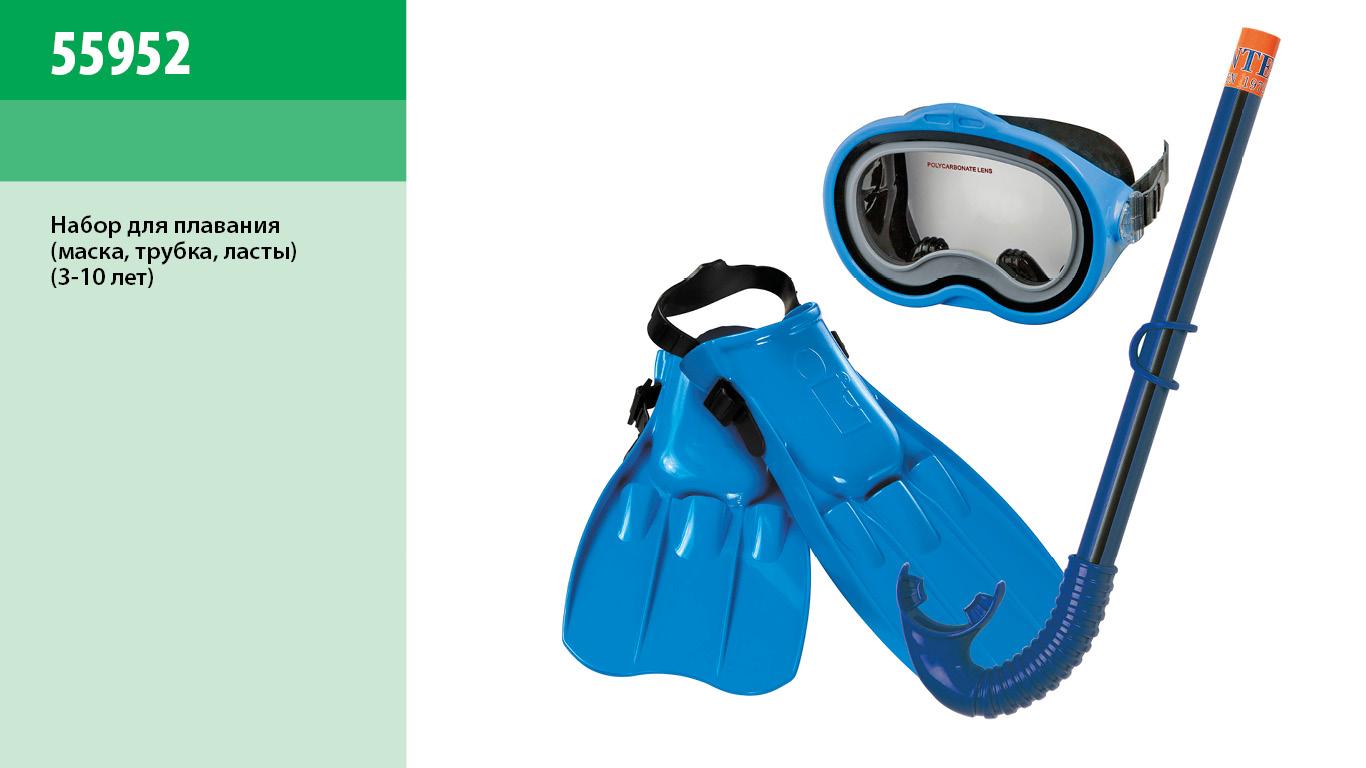 Набір для плавання INTEX арт.  55952   маска трубка  ласти
