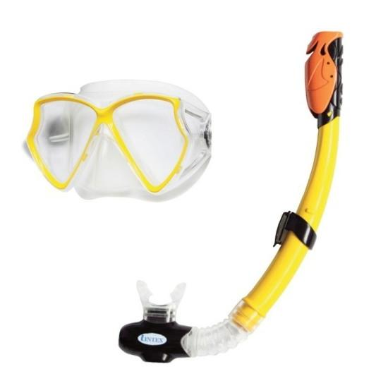 """Набір для плавання INTEX арт. 55960 """"Профі"""" (маска 55980,трубка 55923) (3-10 років)жовт."""