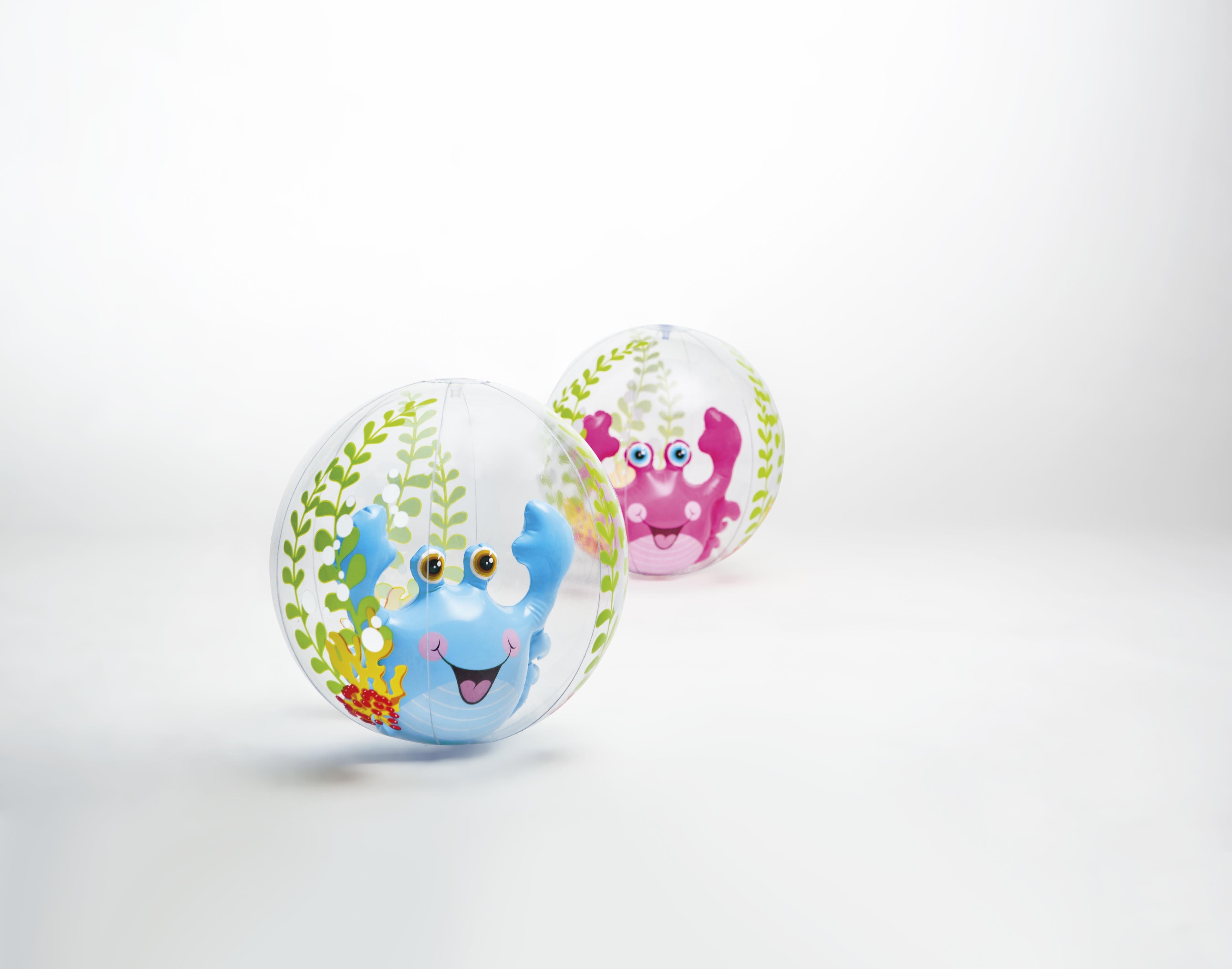 """М'яч надувн. 58031  """"Рибка"""" з надувною рибкою всередині, 2цвета (роз., син.) (3 + років) (61см) 13 *"""