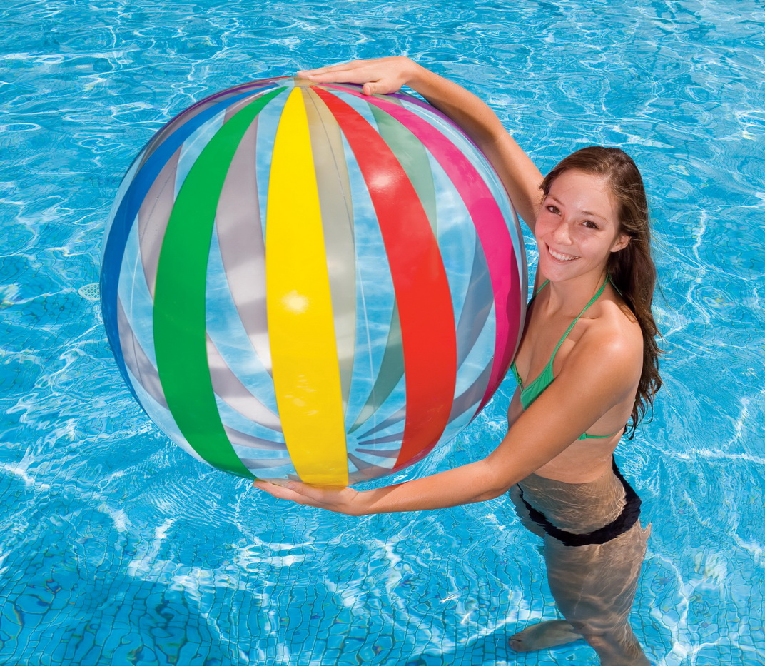 М'яч надувн. 59065 (24шт)6-ти кольор.(3+ років) 107см
