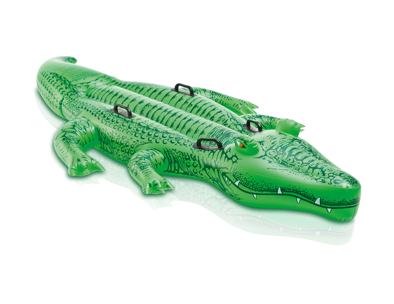 """Надувн. """"Крокодил"""" 58562 вініл,із ручками (3+ років),рем комплект,у кор. 203*114см"""
