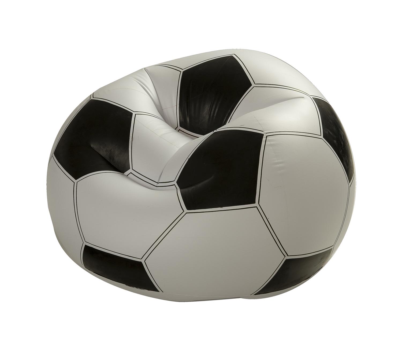 """Крісло надувн. 68557 (6шт) """"Футбол.М'яч"""" вініл (6+ років), в кор. 108*110*66см"""