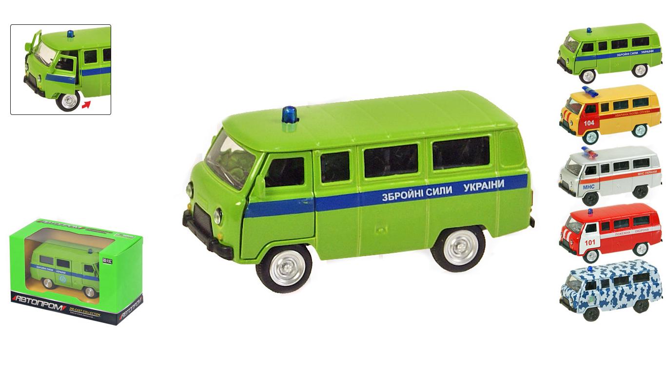 """Іграшка машина метал УАЗ 6402ABCDEF """"АВТОПРОМ"""",відкр.двері,у кор. 12*5,7*6,8см"""