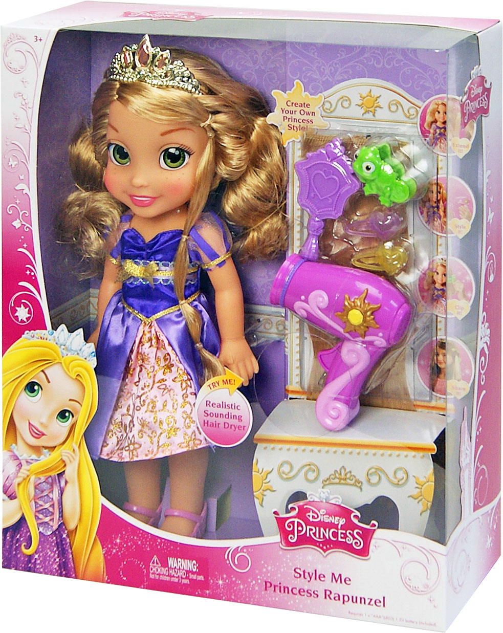 Іграшка лялька Disney Рапунцель арт.86819 (86821) музика, на бат., в кор. 12*33*38см