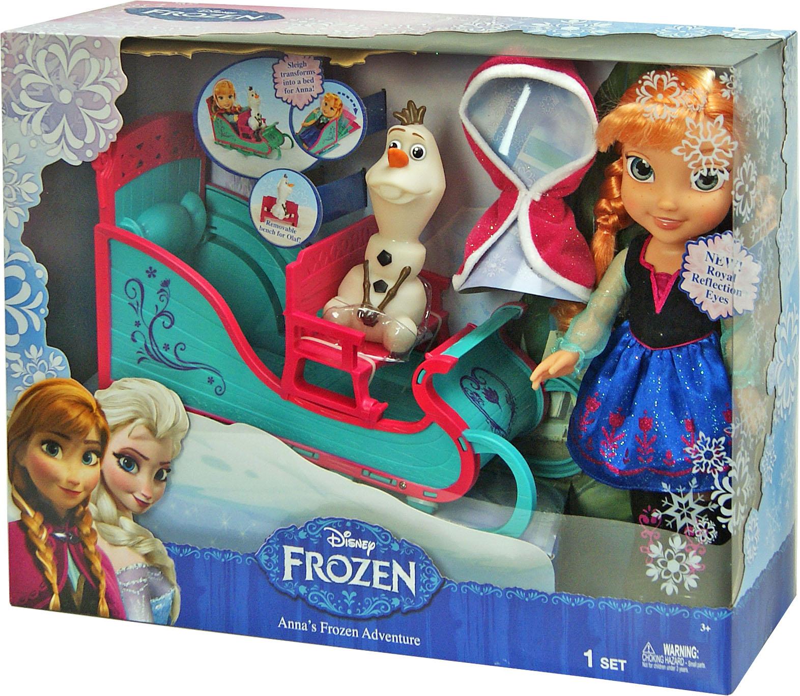 Іграшка лялька Frozen Анна і Олаф арт.31075 в кор. 16,5*51*38см