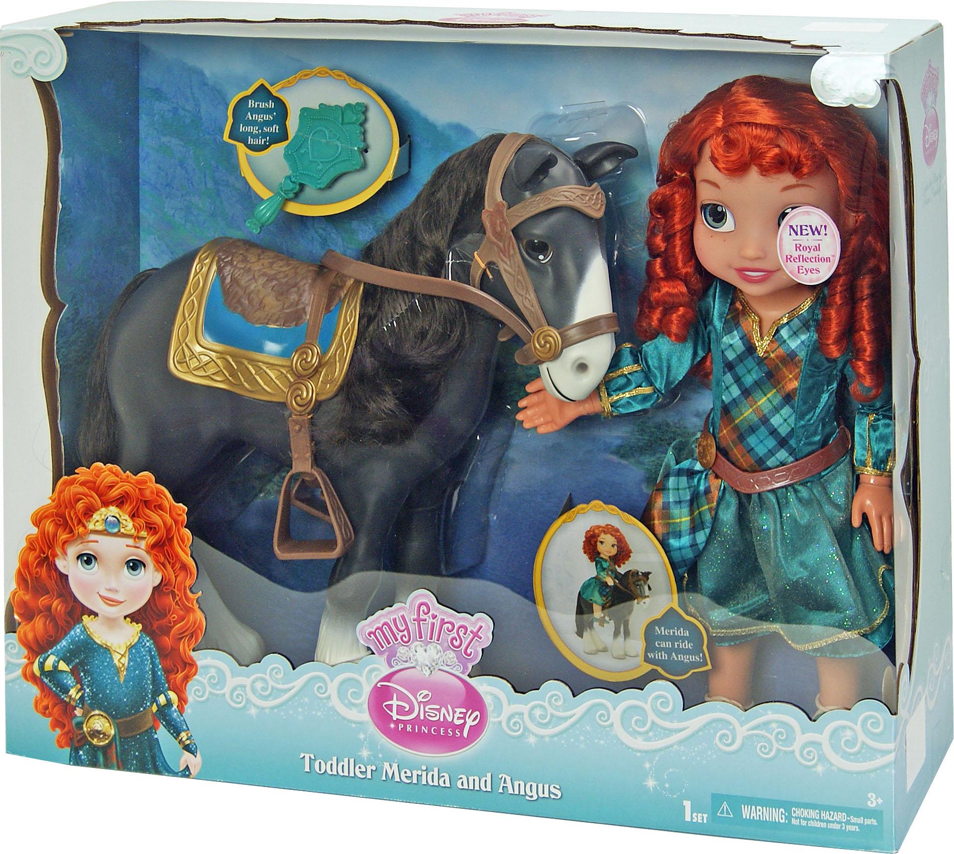 Іграшка лялька Disney Меріда і кінь Ангус арт.76348 (79155)  в кор. 16,5*51*41см