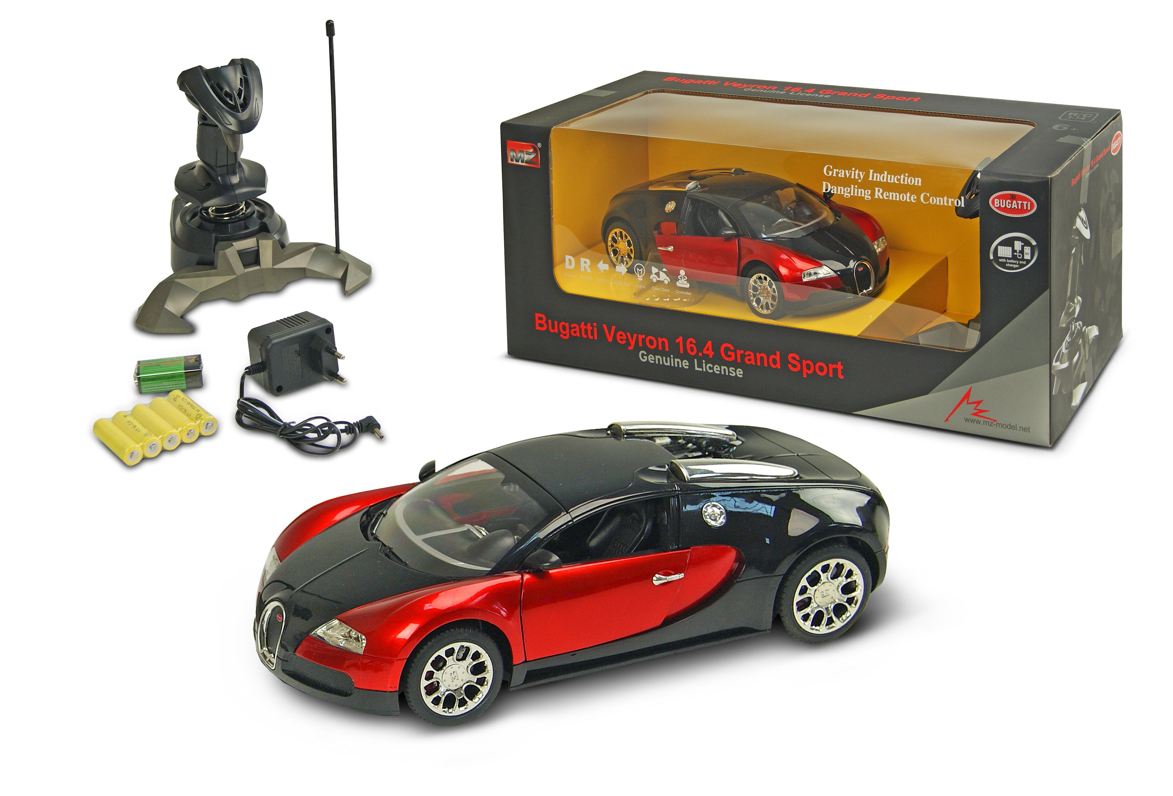 Іграшка машина акум.батар.р/к 2132D 1:14 Bugatti, відкр.двері, 2кол, в кор