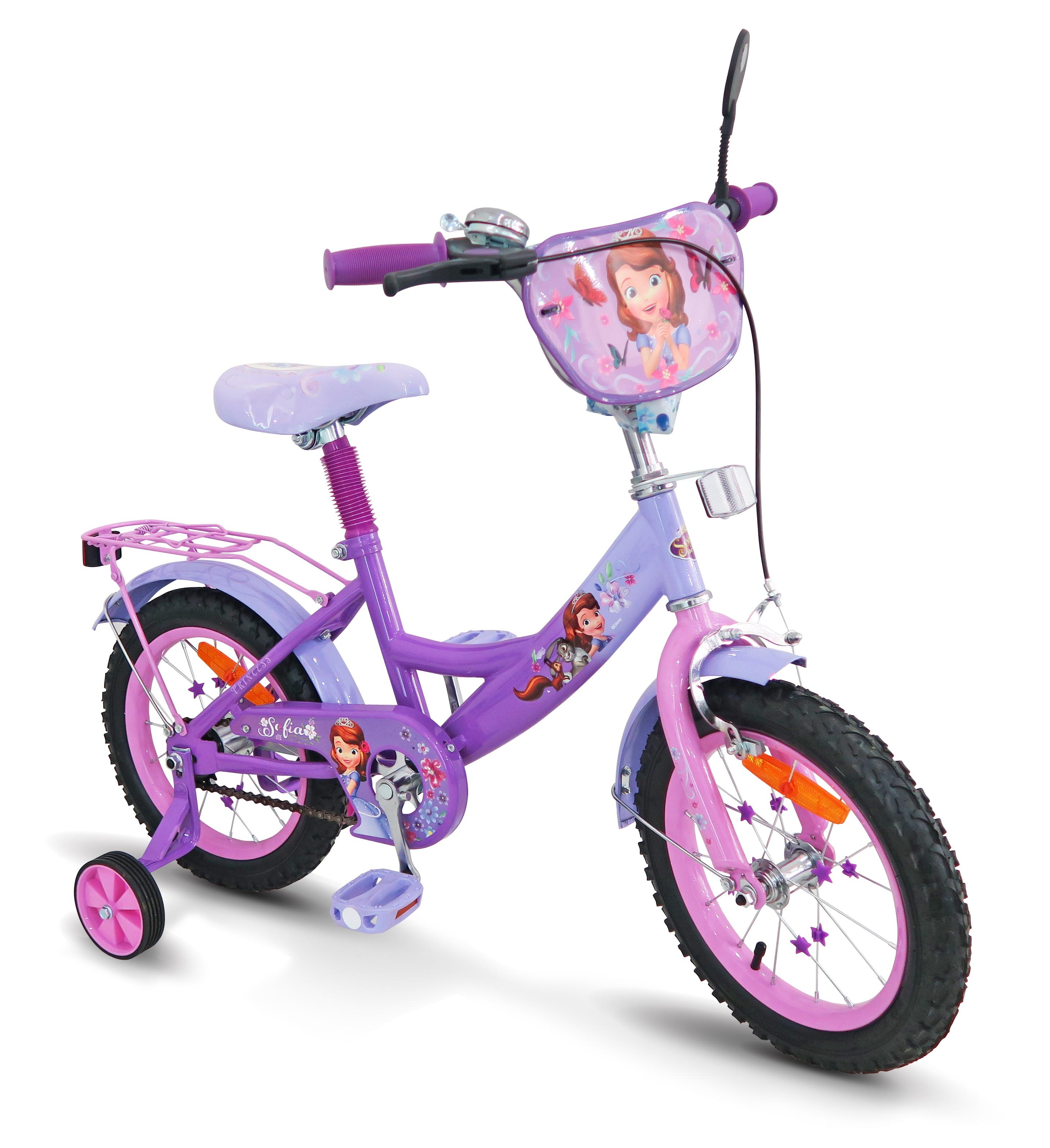 Велосипед 2-х колес 14'' SP1401 Софія з дзвоником,дзеркалом