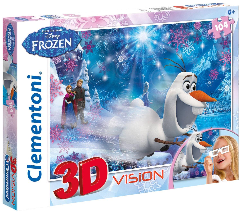 Пазлы Clementoni/Frozen арт 20603 (104 эл., 3D)