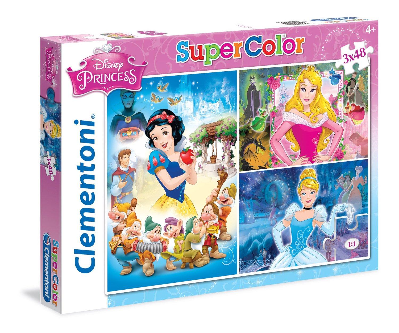 Пазлы Clementoni/Disney Princess арт.: 25211 (Supercolor, 3x48 эл.)