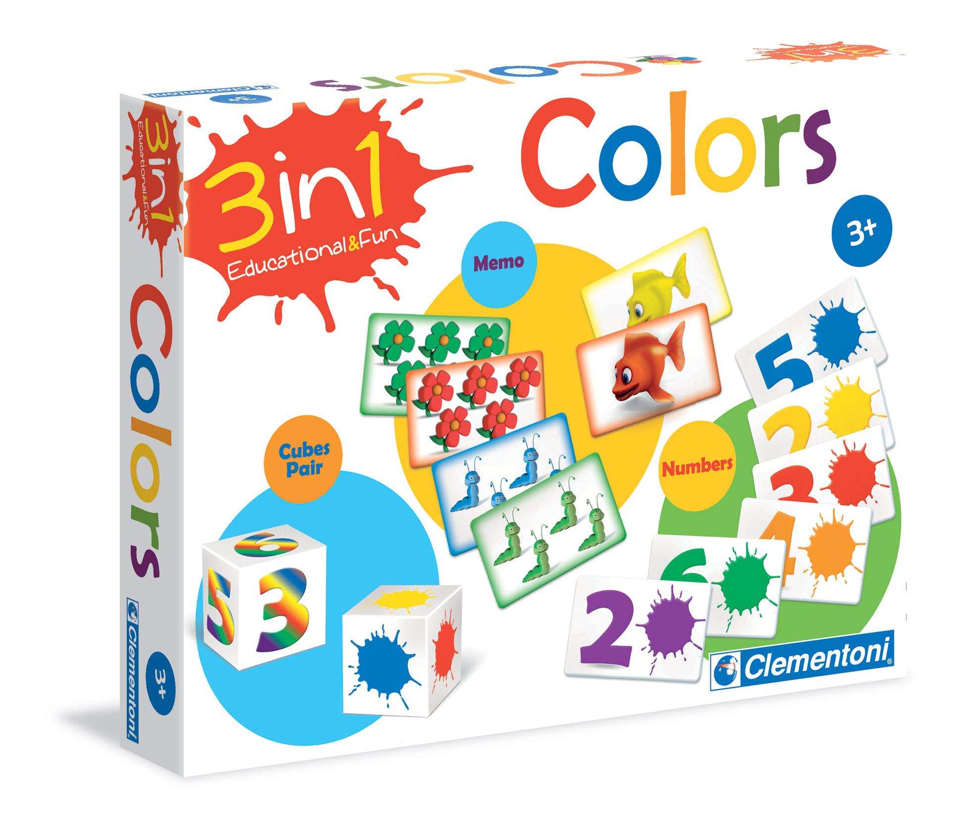 Ігра 3в1 Clementoni цвета арт.: 60314