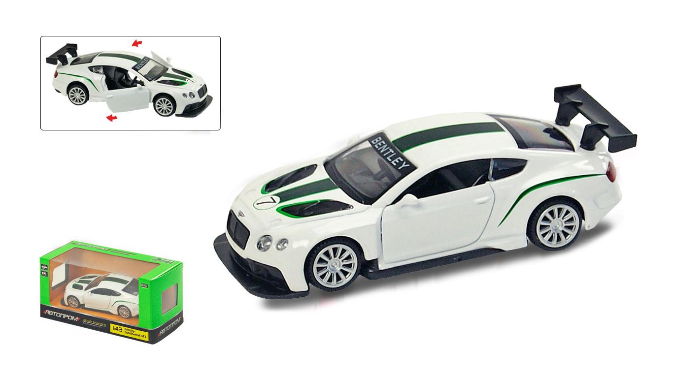 """Іграшка машина метал Bentley Continental 1:43 арт 67319 """"АВТОПРОМ"""",відкр дв,в кор. 14,2*7,2*6,5см"""