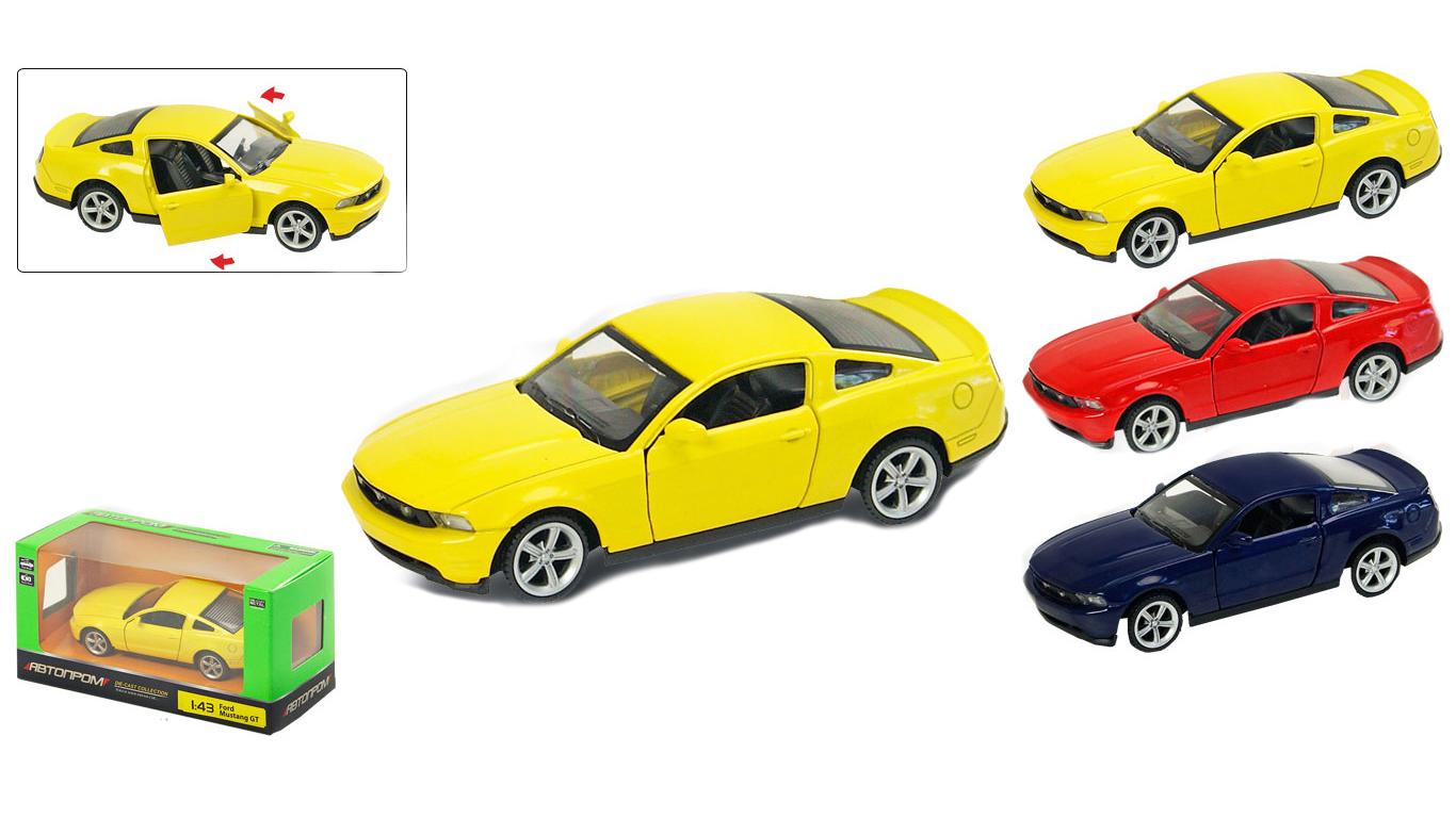 """Іграшка машина метал Ford Mustang GT 1:43 арт 67310 """"АВТОПРОМ"""",відкр дв,в кор. 14,2*7,2*6,5см"""