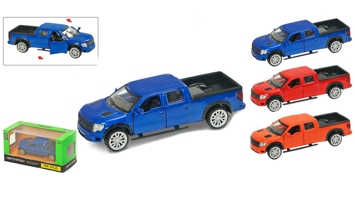"""Іграшка машина метал Ford Raptor 1:52 арт 67329 """"АВТОПРОМ"""",відкр дв,в кор. 14,2*7,2*6,5см"""