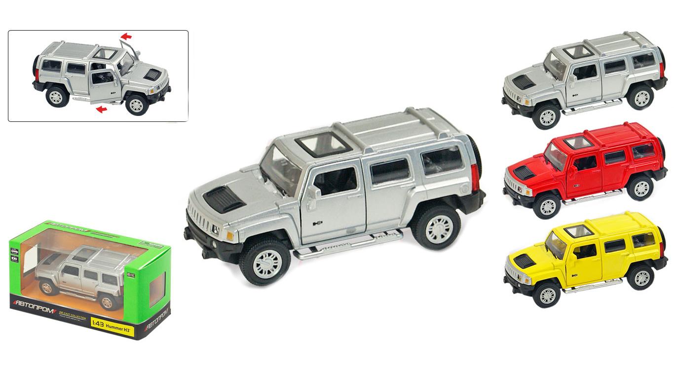 """Іграшка машина метал Hummer H3 1:43 арт 67301""""АВТОПРОМ"""",відкр.дв,в кор. 14,2*7,2*6,5см"""
