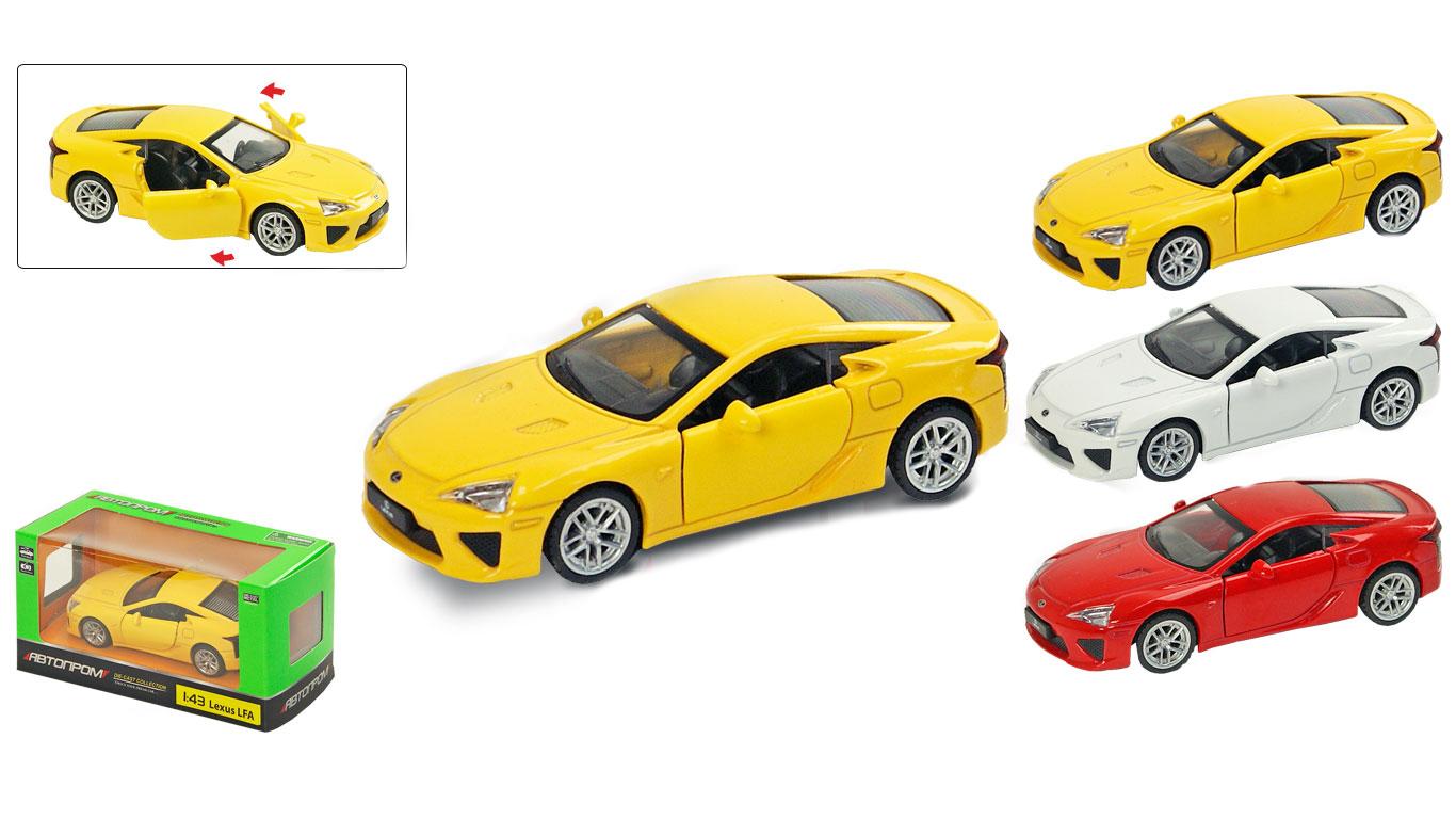 """Іграшка машина метал Lexus LFA 1:43 арт. 67309 """"АВТОПРОМ"""",відкр дв,в кор. 14,2*7,2*6,5см"""