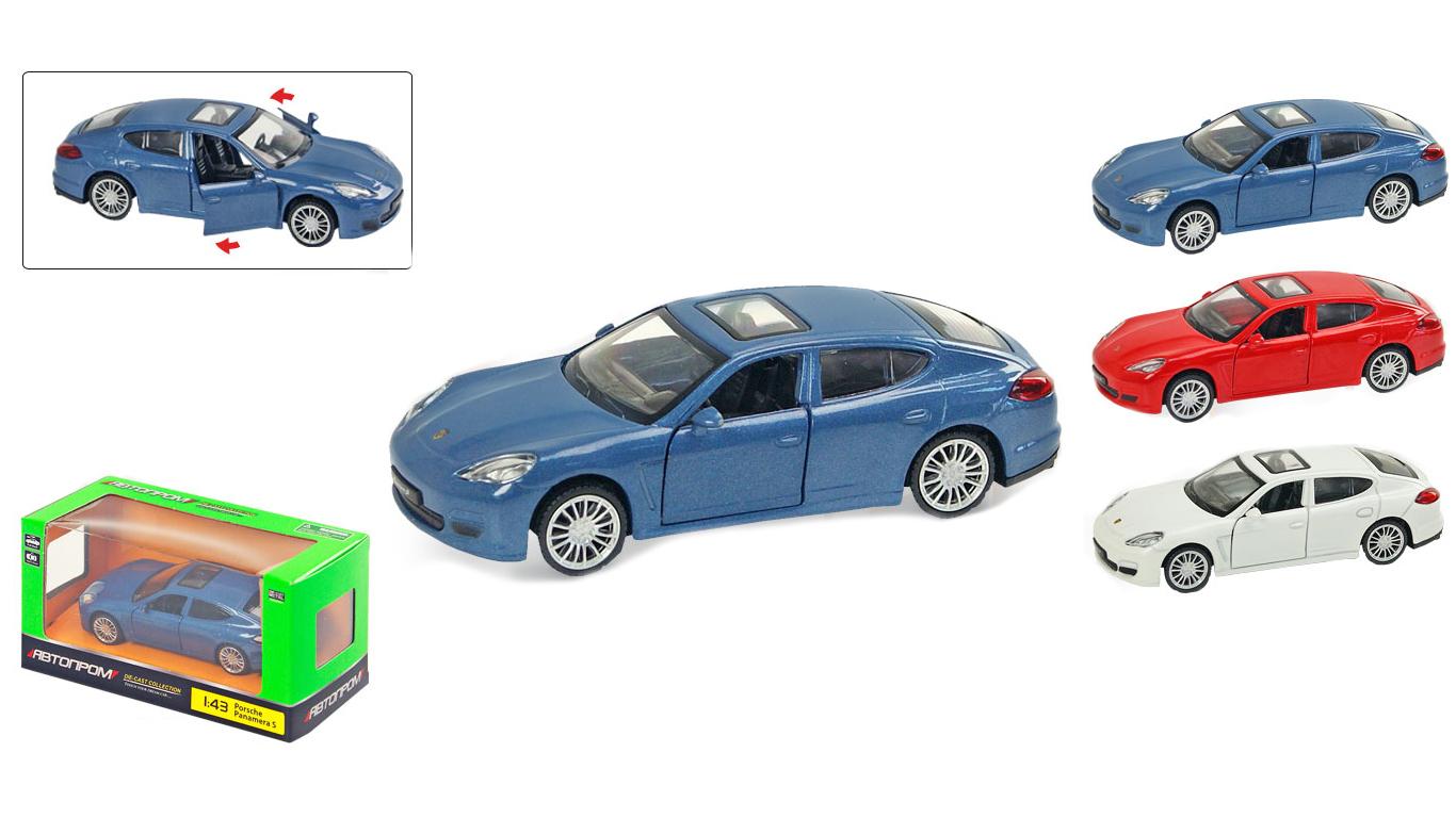 """Іграшка машина метал Porsche Panamera 1:43 67303  """"АВТОПРОМ"""",відкр дв,в кор. 14,2*7,2*6,5см"""