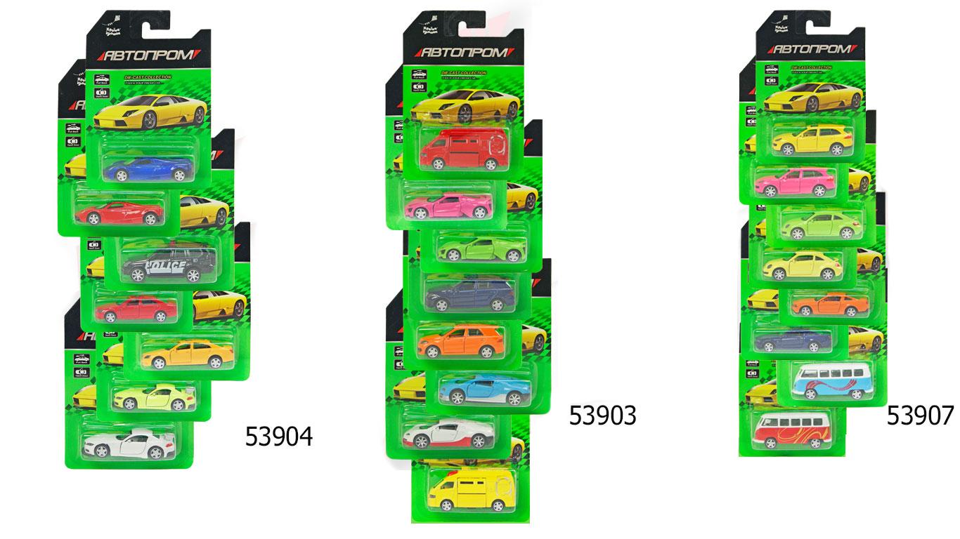 """Іграшка машина металл 53903/4/7 """"АВТОПРОМ"""" відкр.двері, на планшетці 16,5*11,5см"""