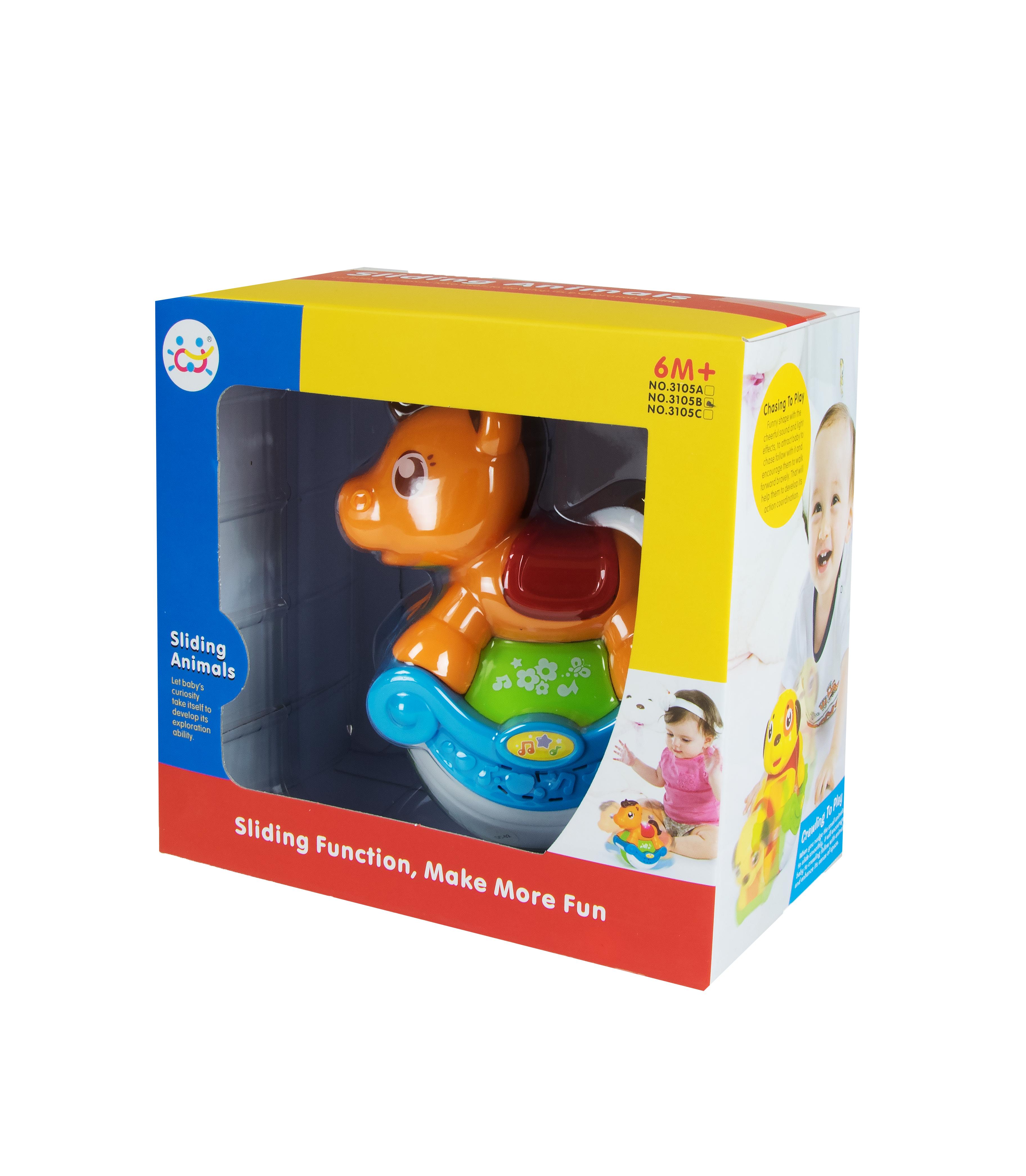 Іграшка арт 3105A/B/C Неваляшка 19*12*18 см в коробці