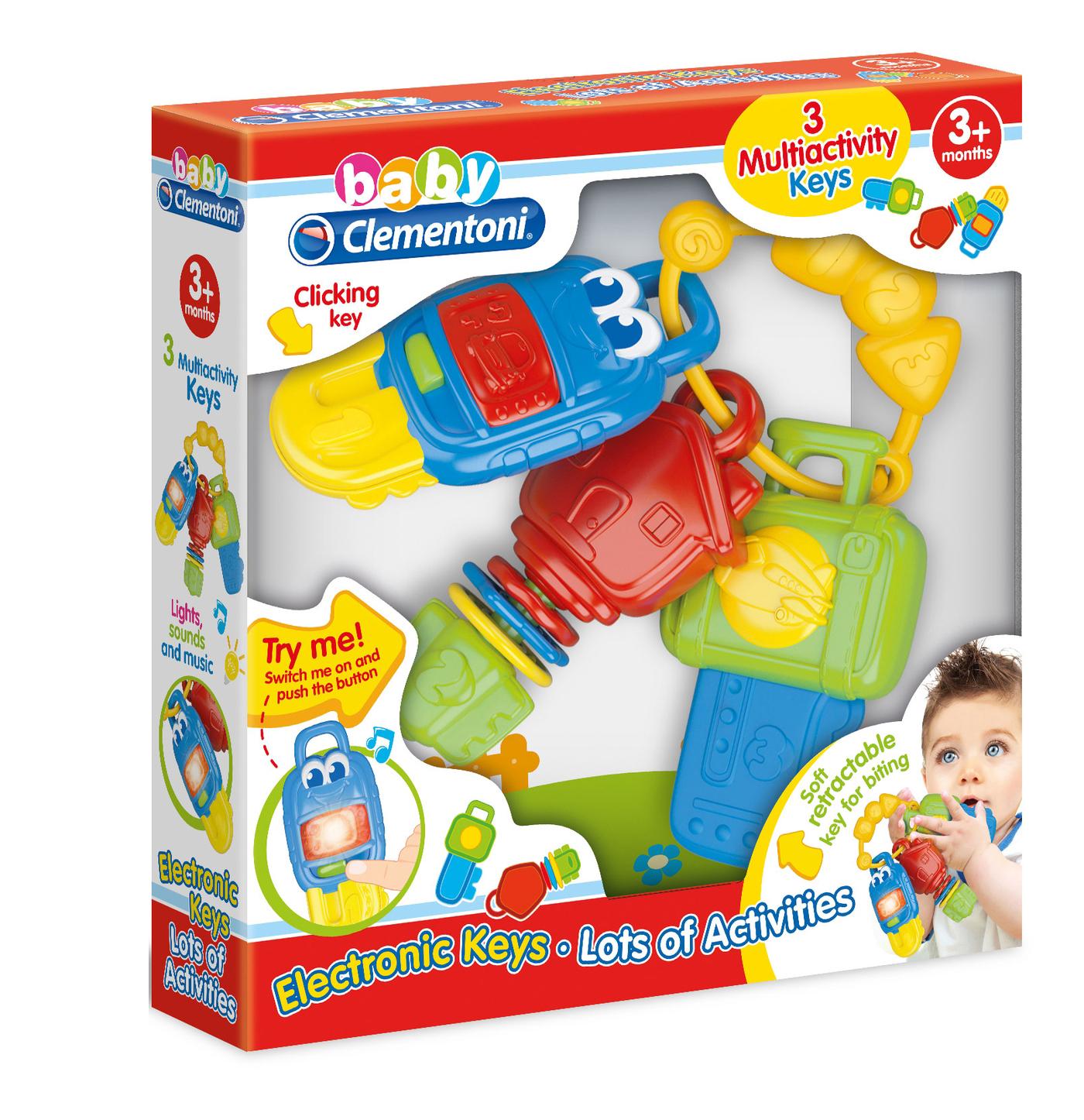 Розвивающая игрушка Clementoni Электронные ключи Арт. 17107 в коробке