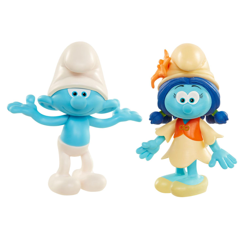 Игрушка фигурка арт. 96567 (96562) Smurfs Clumsy and Smurflily в блистере
