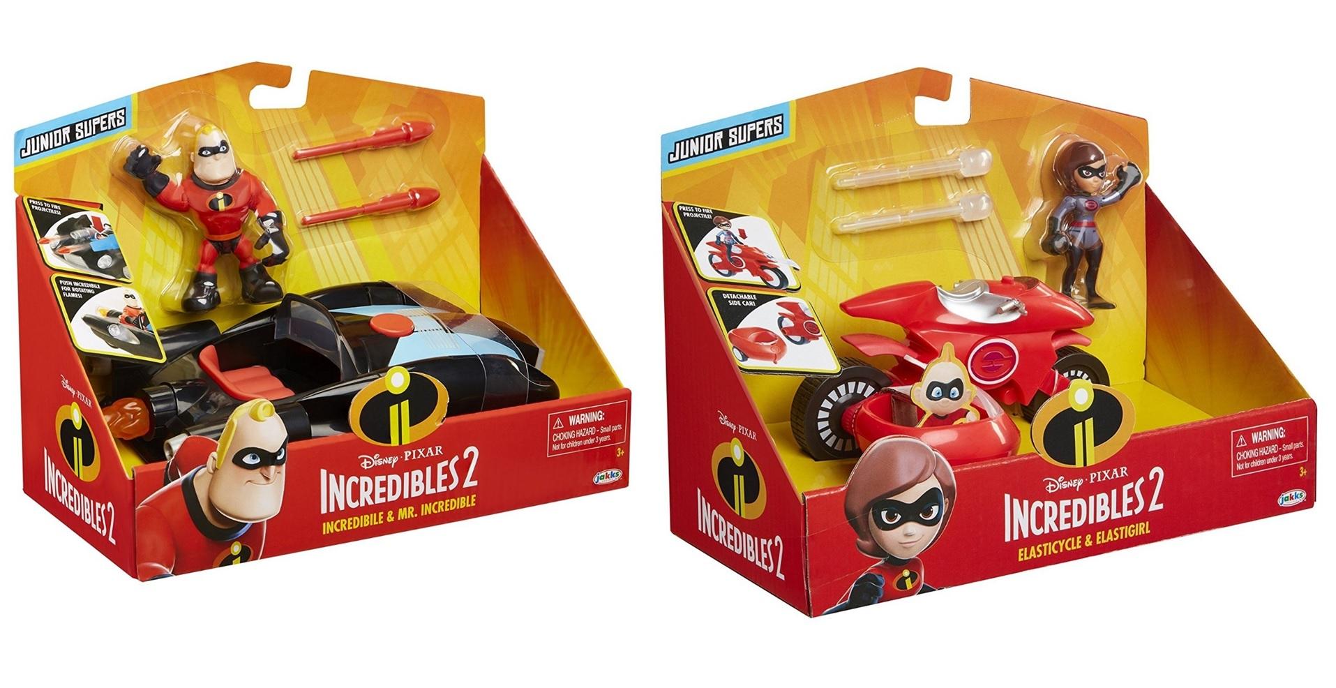 Игровой набор фигурка с машинкой Incredibles 2 в коробке, артикул 76737
