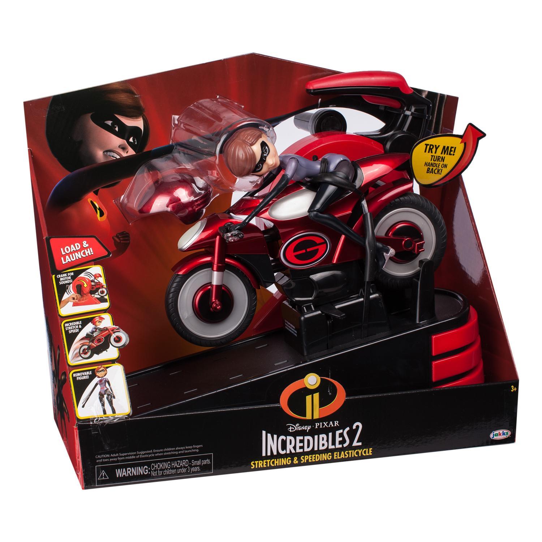 Игровой набор фигурка Эластикгерл с мотоциклом Incredibles 2 в коробке, артикул 76605