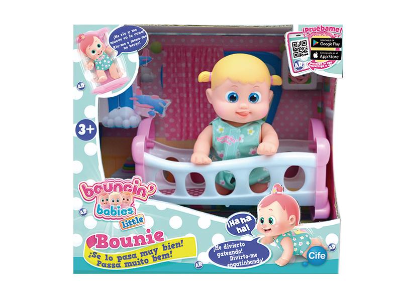 Кукла Bouncin' Babies Bounie в кроватке арт. 801002