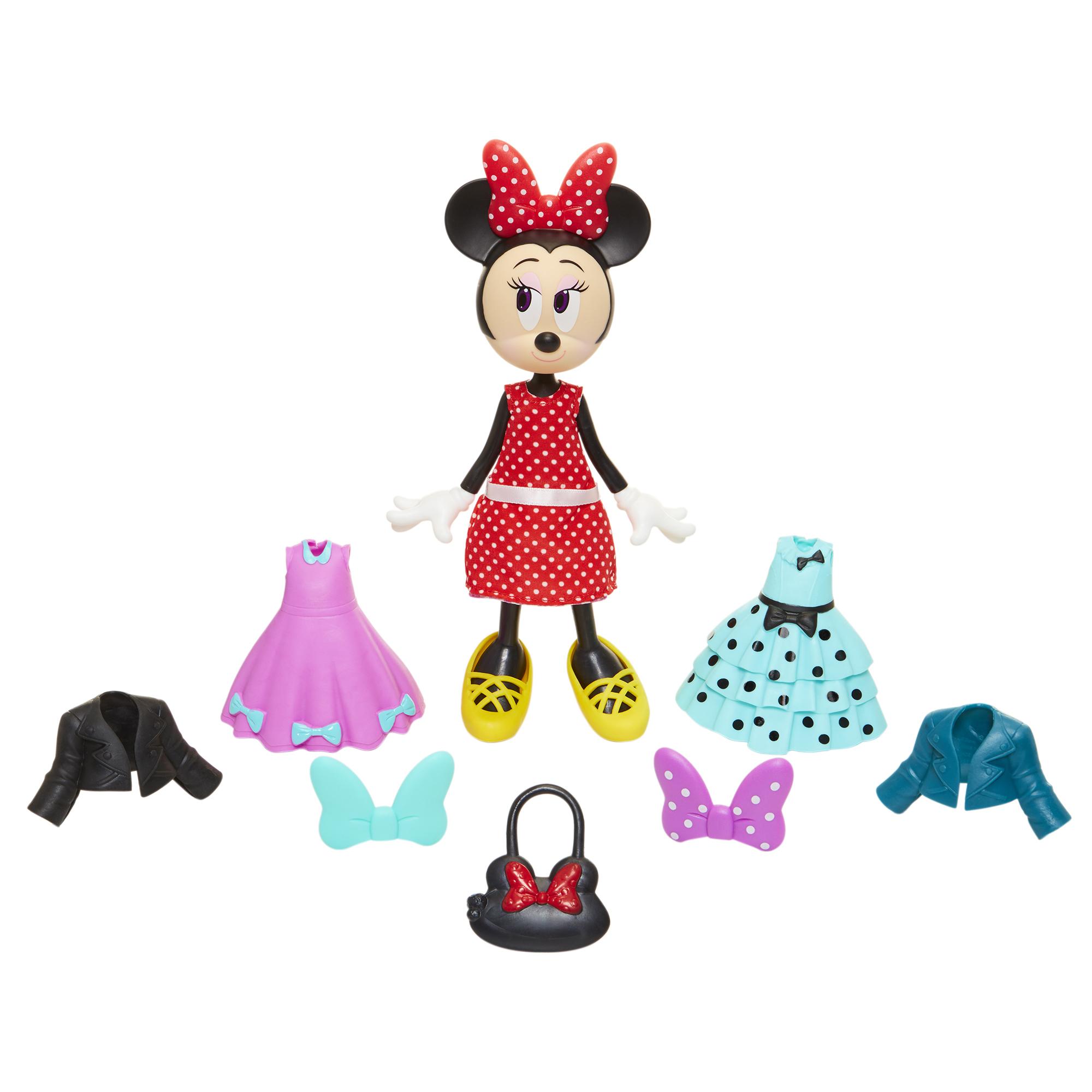Игровой набор кукла с платьями и сумочкой Minnie Mouse ...